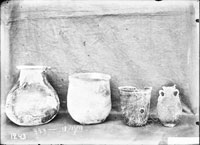 Fragments of GLASS VESSELS of the Roman period from the necropolis
